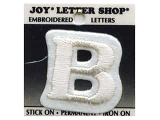 "Iron-On Letter ""B"" Embroidered 1 1/2 in. White"