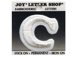 "Iron-On Letter ""C"" Embroidered 1 1/2 in. White"