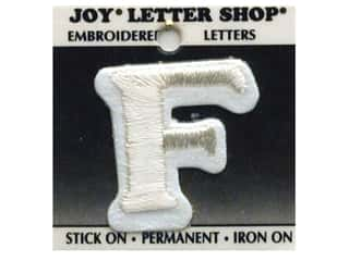Joy Letter Shop Iron On White F