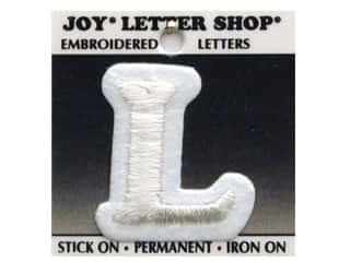 "Iron-On Letter ""L"" Embroidered 1 1/2 in. White"