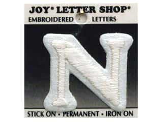 "Iron-On Letter ""N"" Embroidered 1 1/2 in. White"