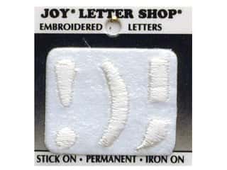 Joy Letter Shop Iron On White !);
