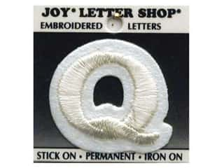Joy Letter Shop Iron On White Q