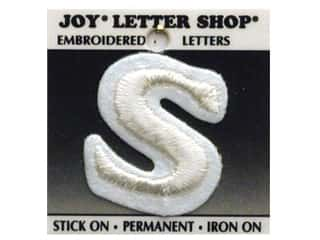 Letter Shop Iron On White S