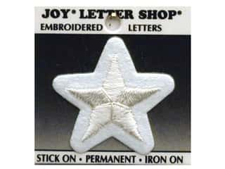 Iron-On Character Star Embroidered 1 1/2 in. White