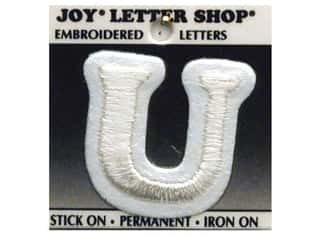 "Joy Lettershop Iron-On Character ""U"" Embroidered 1 1/2 in. White"