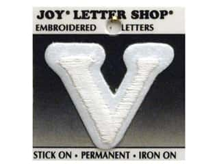 Joy Letter Shop Iron On White V