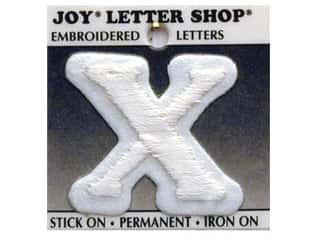 Joy Letter Shop Iron On White X