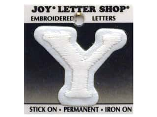 Joy Letter Shop Iron On White Y