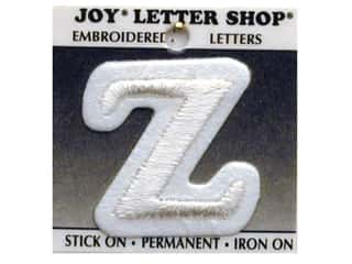 "Joy Lettershop Iron-On Character ""Z"" Embroidered 1 1/2 in. White"
