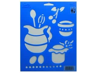 "Plaid Simply Stencil 8""x10"" Kitchen Time (3 packages)"