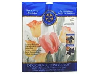 Rubber Stamping Gardening & Patio: Plaid Stamps Decorator Blocks Set Tulips