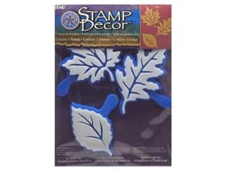 Rubber Stamping Fall / Thanksgiving: Plaid Stamp Decor Set 3 pc Leaf Collection