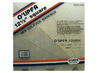 "Leatherwork Clear: O'Lipfa Ruler 12.5"" Square Golden Markings"