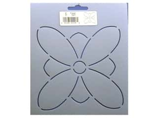 Plastic Stencils: Quilting Creations Stencil Flower 5&quot;