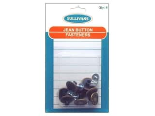 Sullivans Fasteners: Sullivans Jean Button Fasteners Star with Leaf Design