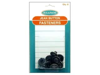 fasteners: Sullivans Jean Button Fasteners Copper Sun Ring with Gold Trim
