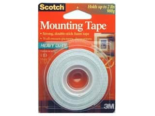 "Double-sided Tape: Scotch Mounting Tape Heavy Duty 1/2""x 75"""