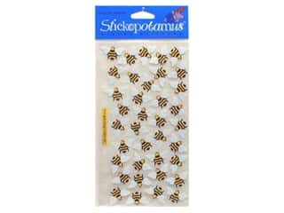 stickers  -3D -cardstock -fabric: EK Sticko Stickers Bees