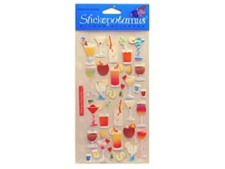 stickers  -3D -cardstock -fabric: EK Sticko Stickers Cocktails