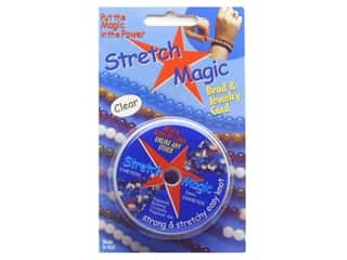 Cording Clear: Stretch Magic Beading Cord .5mm x 32.8 ft. Clear