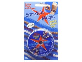 Kid Crafts $5 - $10: Stretch Magic Beading Cord .5mm x 32.8 ft. Pearl