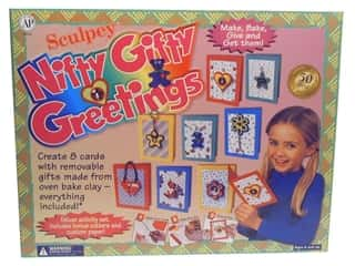 Sculpey Crafting Kits: Sculpey SuperFlex Bake & Bend Clay Kit Nifty Gifty Greetings