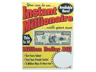 Novelty Items Sewing Novelties: TMS Million Dollar Bill Counter Card for POP
