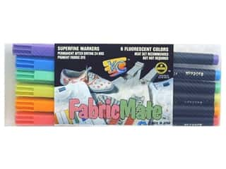Y&C Pens: FabricMate Dye Markers Brush Tip Standard Barrel Set Fluorescent 6pc