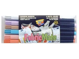 FabricMate Dye Markers Brush Tip Standard Barrel Set Pastel 6pc