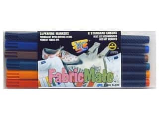 Pens Fabric Painting & Dying: FabricMate Dye Markers Brush Tip Standard Barrel Set Standard Colors 6pc