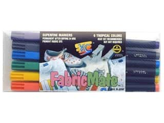 FabricMate Dye Markers Brush Tip Set Tropical 6pc