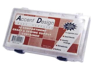 Snaps Yarn & Needlework: Accent Design Acrylic Organizer Box 18 Compartment