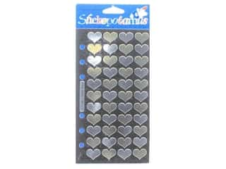 EK Sticko Stickers Gold and Silver Hearts (6 packages)