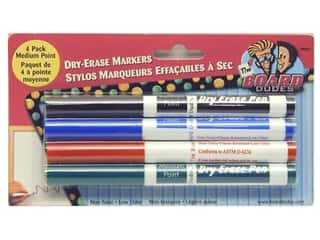 The Board Dudes Dry Erase Marker Medium Point 4pc Blue/Black/Green/Red