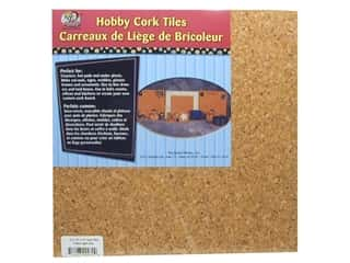 Holiday Sale: The Board Dudes Cork Tile 1/4 x 12 x 12 in. Light 4 pc.