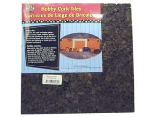 Office Back To School: The Board Dudes Cork Tile 3/8 x 12 x 12 in. Dark 4pc