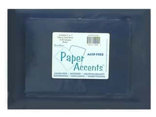 Paper Accents Card&amp;Env 5x7 Black 25pc
