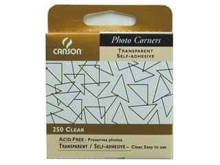 photo corners decorative: Canson Self-Adhesive Photo Corners Transparent