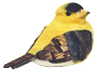 Accent Design - Garden Accents: Accent Design Artificial Bird 2 3/4 in. Chickadee Yellow/Brown Feather 1 pc.