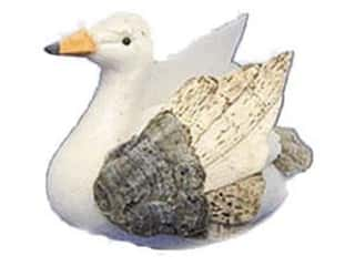 Accent Design - Garden Accents Floral & Garden Accents Small Bird: Accent Design Artificial Bird 2 1/2 in. Swan White/Brown 1 pc.