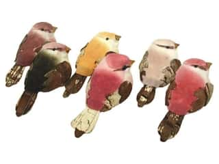 "Floral & Garden Small Bird 2 1/2"" Assorted Pastels"