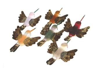 Floral & Garden $2 - $3: Accent Design Artificial Bird 3 1/2 in Hummingbird Asst Brown/Wh 1 pc.