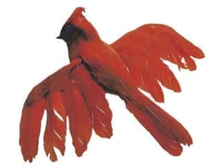 Decorative Floral Critters & Accessories Christmas: Accent Design Artificial Bird 5 1/2 in. Cardinal Red/Black Feather 1 pc.