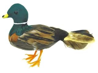 Floral & Garden Brown: Accent Design Artificial Bird 5 in. Mallard Duck Green/Brown Feather 1 pc.