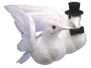 Floral Supplies Wedding: Accent Design Artificial Bird 4 in. Wedding Doves White Feather 1 pc.