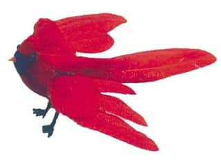 Accent Design Artificial Bird 4 in. Cardinal Red/Black 1 pc.