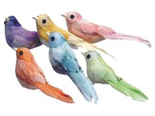 "Accent Design - Garden Accents 36"": Accent Design Artificial Bird 4 1/2 in. Swallow Asst Color Feather 1 pc."