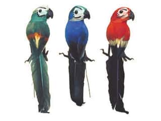Accent Design - Garden Accents: Accent Design Artificial Bird 4 1/2 in. Parrot Asst Color Feather 1 pc.