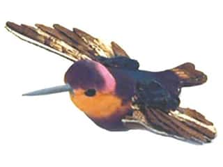 Accent Design - Garden Accents: Accent Design Artificial Bird 3 1/2 in. Hummingbird Orange/Brown 1 pc.